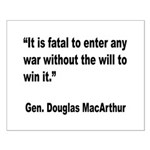 MacArthur Will to Win Quote Small Poster