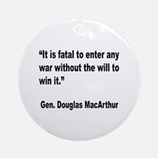 MacArthur Will to Win Quote Ornament (Round)