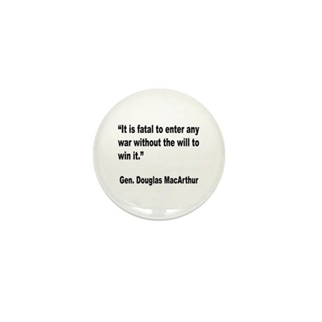 MacArthur Will to Win Quote Mini Button
