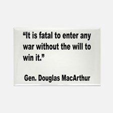 MacArthur Will to Win Quote Rectangle Magnet
