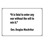 MacArthur Will to Win Quote Banner