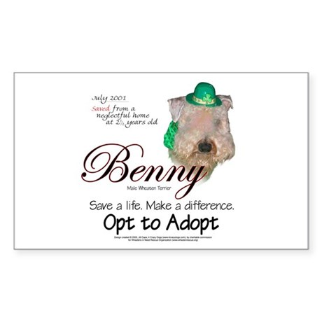 Holiday Benny Rectangle Sticker