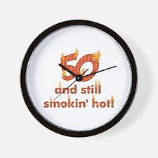Hot Smokin' and Fifty Wall Clock