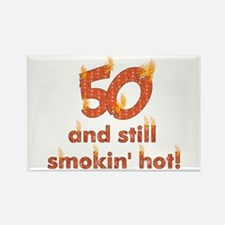 Hot Smokin' and Fifty Rectangle Magnet (100 pack)
