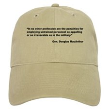 MacArthur Untrained Personnel Quote Baseball Baseball Cap