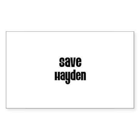 Save Hayden Rectangle Sticker