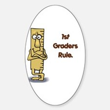 1st Graders Rule Oval Sticker (10 pk)