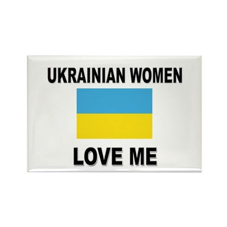 Ukrainian Love Me Rectangle Magnet