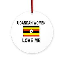 Ugandan Love Me Ornament (Round)
