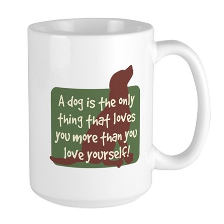 Chocolate Lab Love - Large Mug