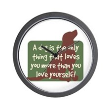 Chocolate Lab Love - Wall Clock