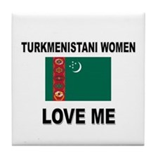 Turkmenistani Love Me Tile Coaster