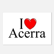 """I Love (Heart) Acerra"" Postcards (Package of 8)"