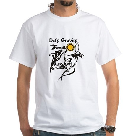 Defy Gravity Rockclimbing White T-Shirt