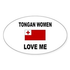 Tongan Love Me Oval Decal