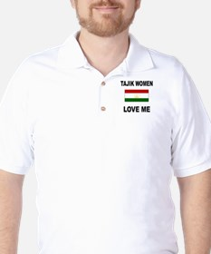 Tajik Love Me Golf Shirt