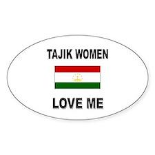 Tajik Love Me Oval Decal