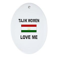 Tajik Love Me Oval Ornament