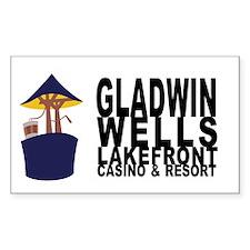 Gladwin Wells Rectangle Decal