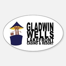 Gladwin Wells Oval Decal