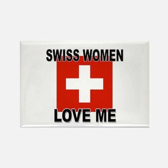 Swiss Love Me Rectangle Magnet