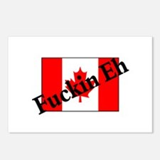 Fuckin Eh (Canadian Flag) Postcards (Package of 8)