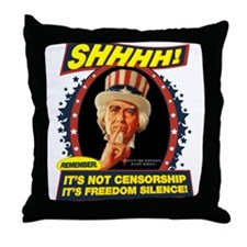 Freedom Silence Throw Pillow