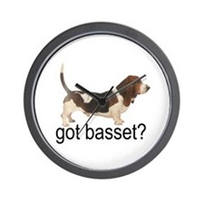 got basset? Tri-color Wall Clock