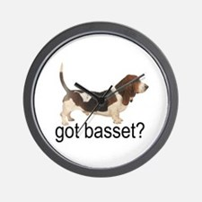 got basset? Tri-color Wall Clock