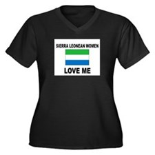 Sierra Leonean Love Me Women's Plus Size V-Neck Da