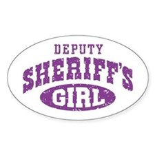 Deputy Sheriff's Girl Oval Decal