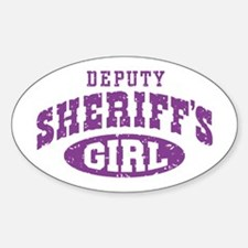 Deputy Sheriff's Girl Oval Decal