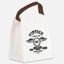 Vintage Perfectly Aged 1947 Canvas Lunch Bag
