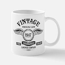 Vintage Perfectly Aged 1947 Mugs