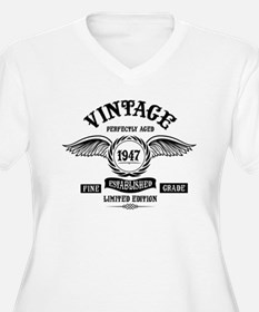 Vintage Perfectly Aged 1947 Plus Size T-Shirt