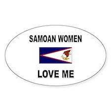 Samoan Love Me Oval Decal