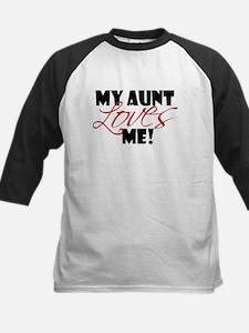 my aunt loves me Kids Baseball Jersey