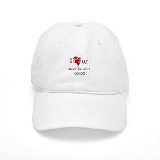 I Love My African Grey Congo Baseball Cap
