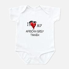 I Love My African Grey Timneh Infant Bodysuit