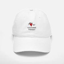 I Love My Alexandrine Parakeet Baseball Baseball Cap