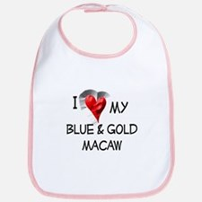 I Love My Blue & Gold Macaw Bib