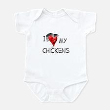 I Love My Chickens Infant Bodysuit