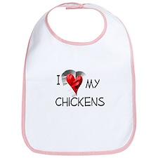 I Love My Chickens Bib
