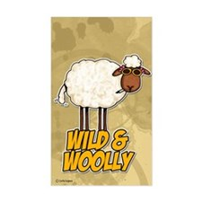 wild and woolly Rectangle Decal