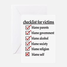 Checklist For Victims Greeting Card