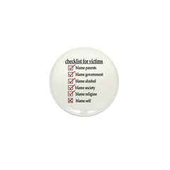 Checklist For Victims Mini Button (10 pack)