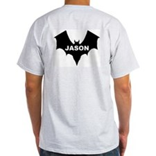 BLACK BAT JASON Ash Grey T-Shirt