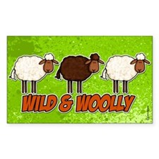 Wild and Woolly (trio) Rectangle Decal