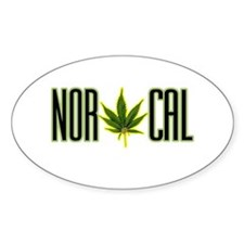 NOR CAL -- T-SHIRTS Oval Decal