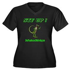 STF UP ! GEcko B Slap Women's Plus Size V-Neck Dar